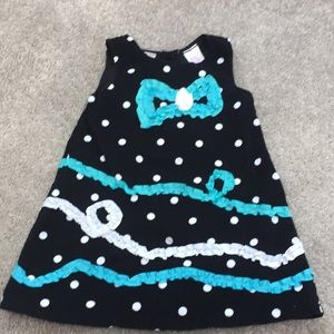 Toddler Girls 2T Black Corduroy Jumper by Nannette